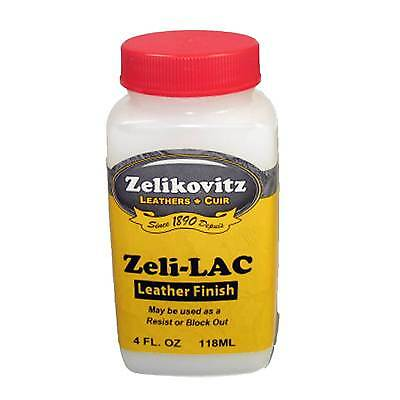Zeli-LAC Leather Finish 4 oz Protective Top Coat or Resist/Block Out