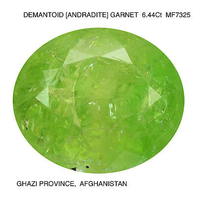 DEMANTOID GARNET [ANDRADITE] RARE NATURAL MINED UNTREATED GEMSTONE 6.44Ct  MF732