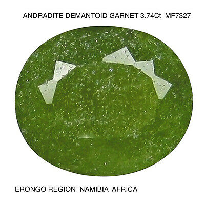 DEMANTOID GARNET NATURAL MINED UNTREATED 3.74Ct  MF7327
