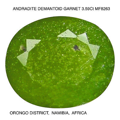 DEMANTOID RARE GARNET [ANDRADITE] NATURAL MINED UNTREATED 3.59Ct  MF8263