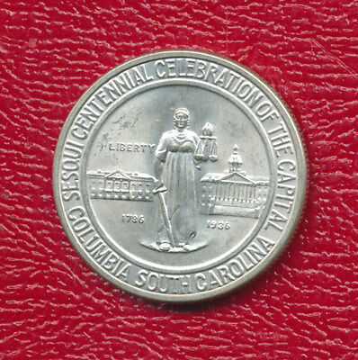 1936 Columbia Silver Commemorative Half Dollar *uncirculated Beauty!* Free Ship!