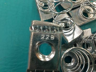 Ten (10) Cooper B-Line N228-ZN-3/8 Steel Plated Spring Nut; 3/8 In
