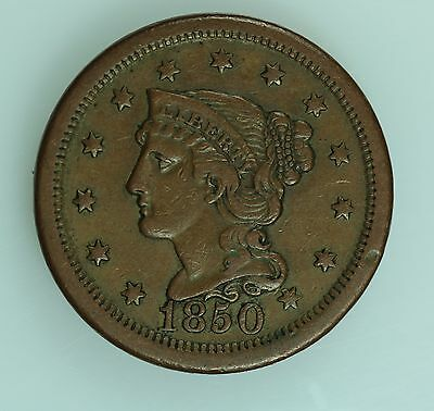 1850 Large Cent! Xf! 1C! Us Coin Lot #229