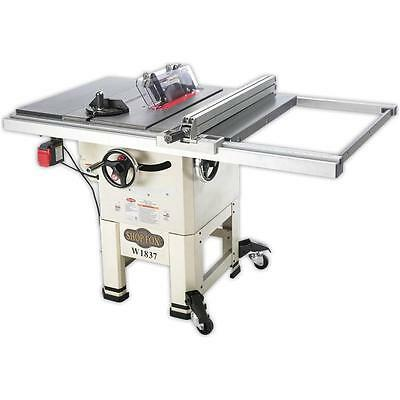 """Shop Fox W1837—10"""" 2 HP Open-Stand Hybrid Table Saw - Free Shipping"""