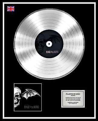 AVENGED SEVENFOLD Ltd Edition CD Platinum Disc Record HAIL TO THE KING
