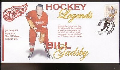 Bill Gadsby Detroit Red Wings Hockey Legends Cover