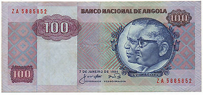 Angola 100 Kwanzas 1984 Replacement Za Pick 119 Look Scans