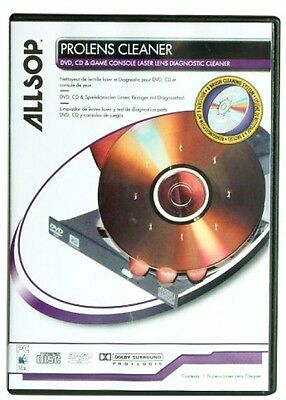 Allsop ProLens Cleaner For DVD CD Game Consoles - Laser Lens Diagnostic - NEW