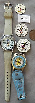 Vintage Character Watches, Parts: Holly Hobbie, Barbie, Mickey Mouse, Minnie