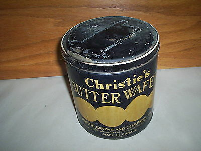 Christie's Butter Wafers Toronto Canada 12 1/2oz Tin Christie Brown & Company