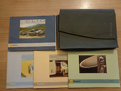 Renault Clio Owners Handbook Manual and Wallet 05-09