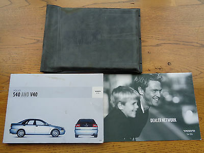 Volvo S40/V40 Owners Handbook/Manual and Wallet 00-04