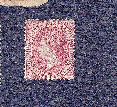 Early SOUTH AUSTRALIA Mint Stamp 1872 , NINE PENCE,Queen Victoria