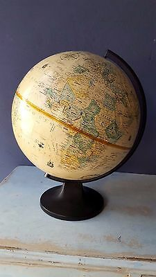 World Globe 30 x 40cm Embossed Raised Relief Educational Geography