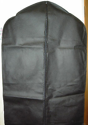 "Garment Bag Black Breathable 40"" For Suits"
