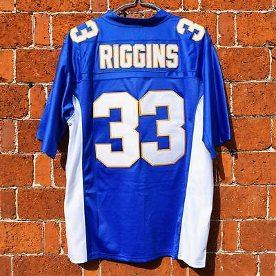 Tim Riggins #33 Friday Night Lights Football BLUE Jersey Dillon Panthers M-3XL