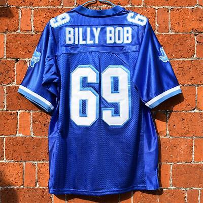 BILLY BOB #69 West Canaan Coyotes Varsity Blue football jersey stitched M-3XL