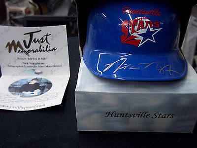 Nick Neugebauer Autograph Baseball Helmet Just Minors Stars Signed Brewers
