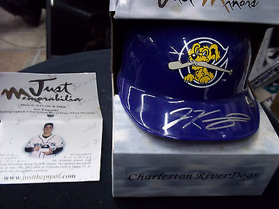 Joe Kennedy Autograph Baseball Helmet Just Minors River Dogs Signed Dec 2007