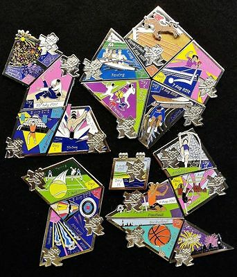 London 2012 Olympic *full Set Of 18 Day Pin* W/opening & Closing Ceremony Badge!
