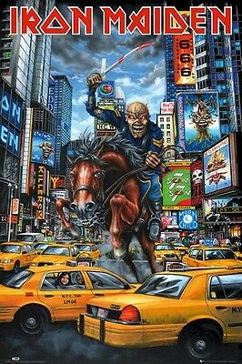 IRON MAIDEN ~ TIMES SQUARE EDDIE 24x36 MUSIC POSTER Rock New York City Horse Cab