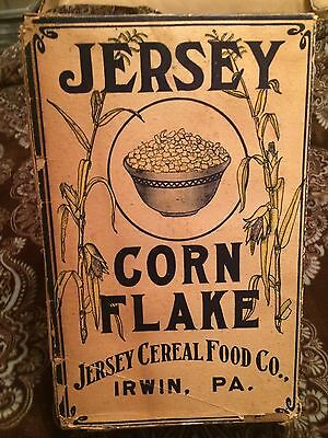 1906 Jersey Corn Flakes Cereal Box!
