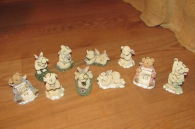 8 Lil' Wings-2 God's Lil' Angels Boyds Bears Lot #1250