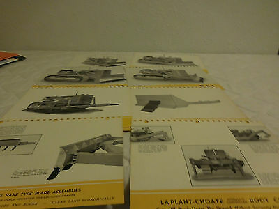 (15) 1940's LaPLANT-CHOATE TRACTOR EQUIPMENT SALES BROCHURE LOT