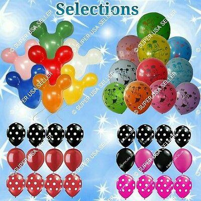 MICKEY MINNIE MOUSE LATEX BALLOONS Decor A Shower Wedding Birthday Party Supply