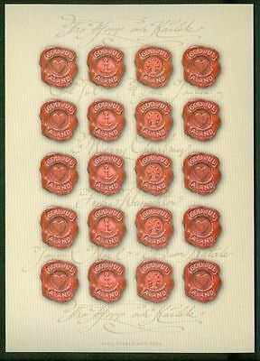 Aland Christmas Seal 2006 Mnh Unfolded Full Sheet  Self-Adhesive