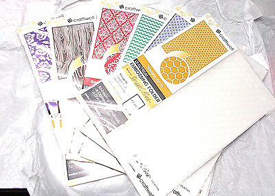Teresa Collins embossing folders lot Craftwell eBosser and Cut N boss Sealed New