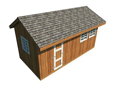 Build your own 10' X 20' Gable Roof Shed (DIY Plans) Fun to build! Save money!