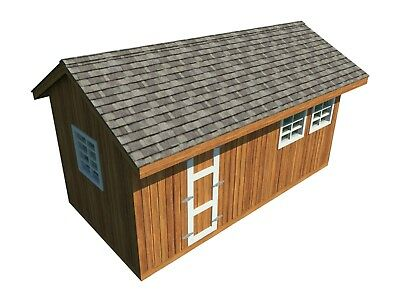 Garden Storage Shed Plans DIY Gable Roof Design Backyard Utility House 10' x 20'