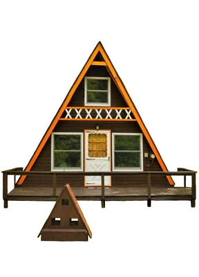 A-Frame Cabin Plans 24' x 21' Two Story A Frame Cabin Vacation Tiny House DIY