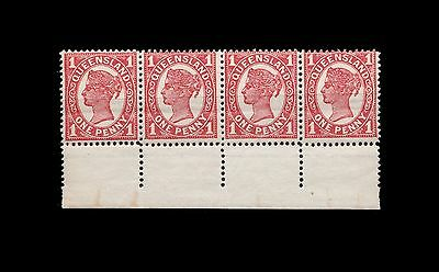 Queensland 1907 SC #131 VF Mint Never Hinged Margin Strip of 4