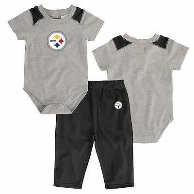 Pittsburgh Steelers Baby Onesie Creeper Sweat Pants Set (FREE SHIPPING) 0-3 mo
