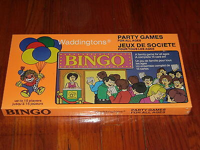 Brand New Sealed Vintage 1981 Waddingtons Party Games Bingo Game in box