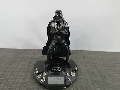 "Star Wars Darth Vader 12"" Alarm Clock Radio Lights Sound - Works"