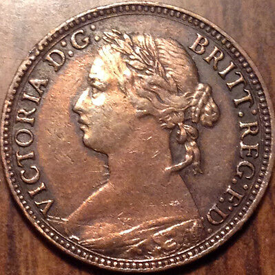 1874H Uk Gb Great Britain Farthing High Grade - Cleaned