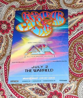 Yes - Asia 2009 Handbill San Francisco - Roger Dean!  Look!