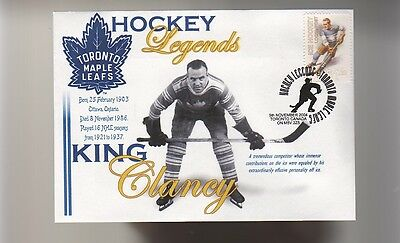 King Clancy Toronto Maple Leafs Hockey Legends Cover