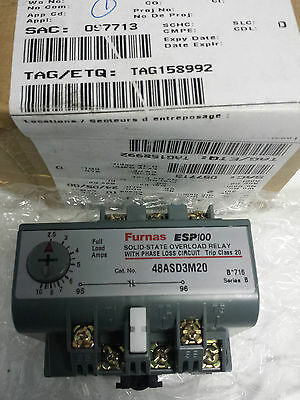 FURNAS ESP100 Solid-State Overload Relay with Phase Loss Circuit 00-088196-014-2
