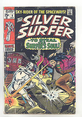 Silver Surfer #9 VG Buscema, Adkins, Mephisto, Death of Flying Dutchman