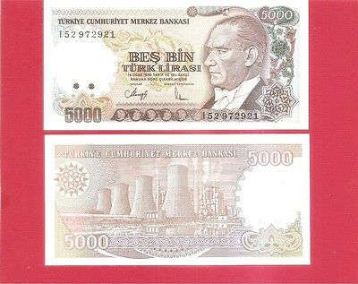 TURKEY p198 - 5000 lira L1970 Uncirculated