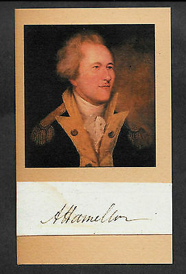 Alexander Hamilton Autograph Reprint On Genuine Original Period 1780s Paper