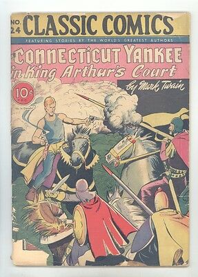 Classics Illustrated #24 HRN 23 (Orig) VG- Hearne, Yankee in King Arthur's Court