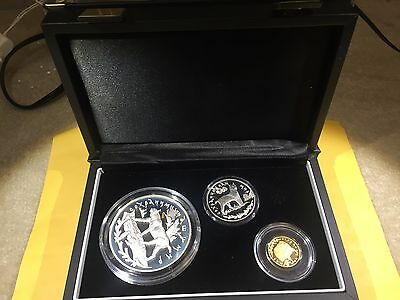1995 Russia Lynx set (50R, 25R, 3R) Gold and Silver