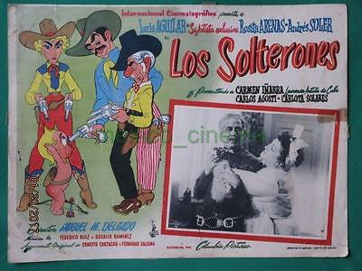 Beautiful Art Los Solterones Andres Soler Gunfighter Spanish Mexican Lobby Card