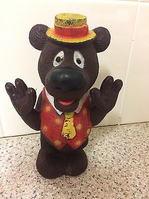 Vintage Retro Humphrey B Bear Rubber Plastic Squeaky Toy Classic Toys