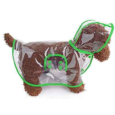 Transparent Dog Raincoat Waterproof Hooded Rain Cover Jacke for Cats Puppy Small